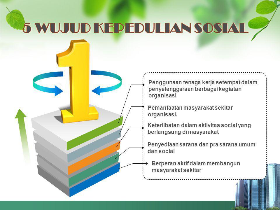 Penggunaan tenaga kerja setempat dalam penyelenggaraan berbagai kegiatan organisasi Pemanfaatan masyarakat sekitar organisasi.