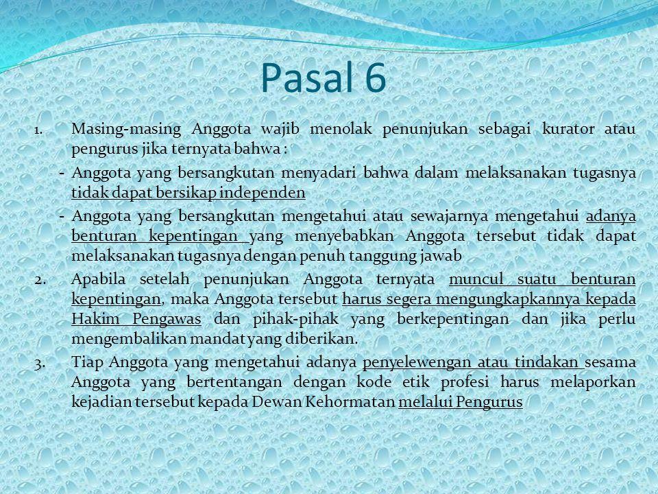 Pasal 6 1.