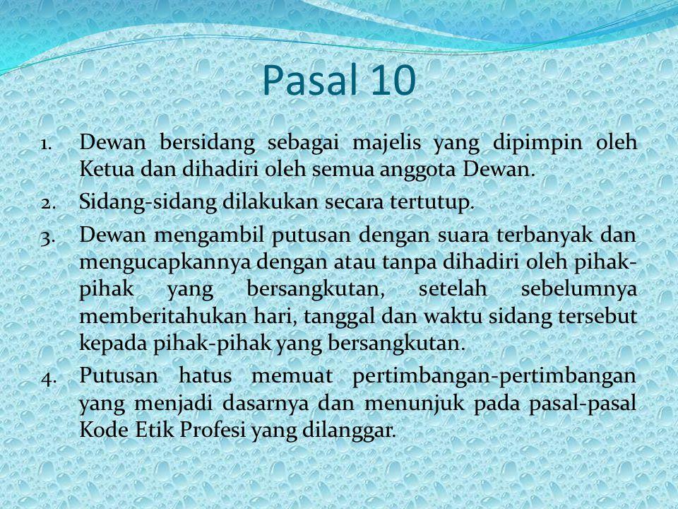 Pasal 10 1.