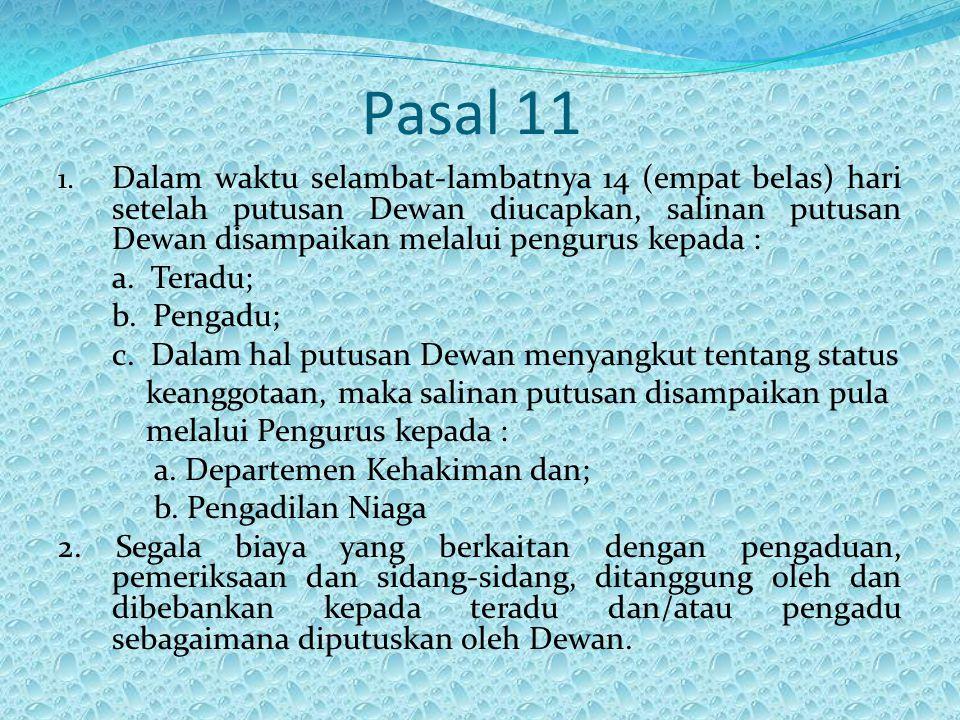 Pasal 11 1.