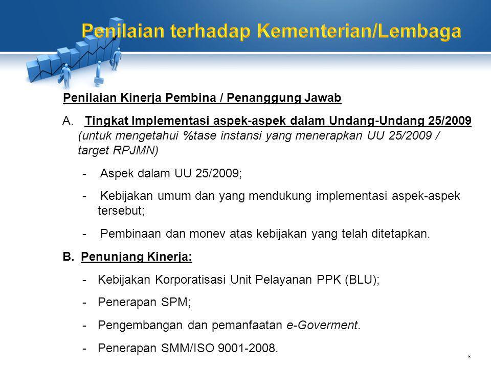 Penilaian dilakukan untuk 3 unit : a.1 (Satu) Unit Pelayanan Informasi (wajib) b.