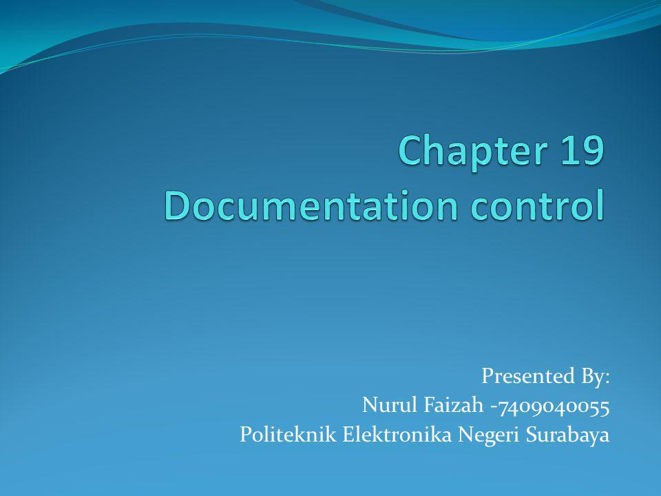 Presented By: Nurul Faizah -7409040055 Politeknik Elektronika Negeri Surabaya