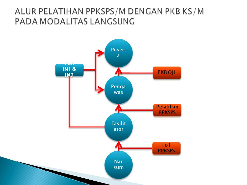 Pesert a Penga was Fasilit ator Nar sum ToT PPKSPS Pelatihan PPKSPS PKB OJL PKB IN1 & IN2 PKB IN1 & IN2