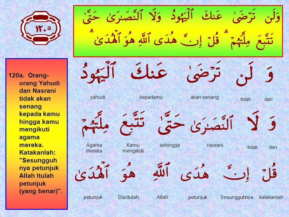 119.Sesungguhnya kami Telah mengutusmu (Muhammad) dengan kebenaran; sebagai pembawa berita gembira dan pemberi peringatan, dan kamu tidak akan diminta (pertanggungan jawab) tentang penghuni- penghuni neraka.
