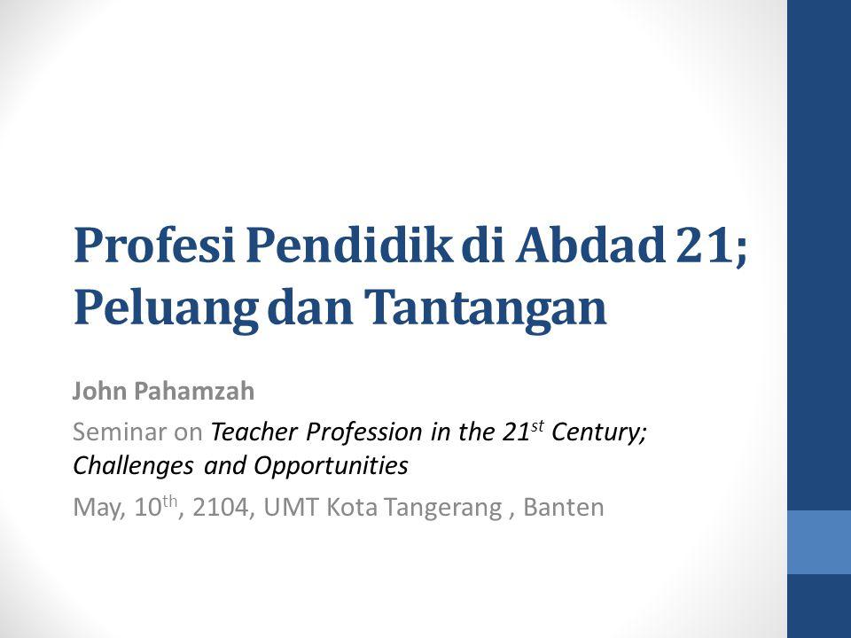 TANTANGAN; Guru Profesional Dituntut memiliki kompetensi: 1.