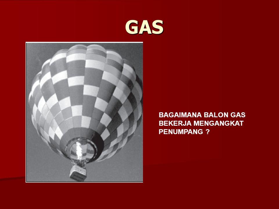 GAS BAGAIMANA BALON GAS BEKERJA MENGANGKAT PENUMPANG ?