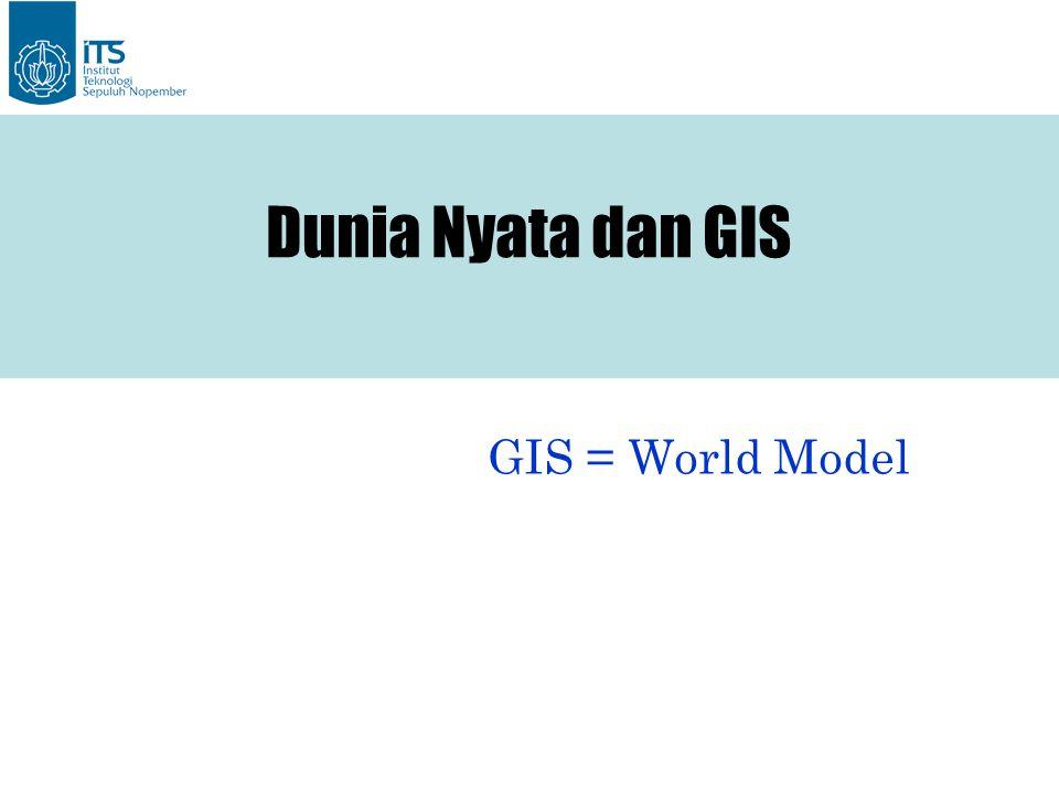 GIS = World Model Dunia Nyata dan GIS