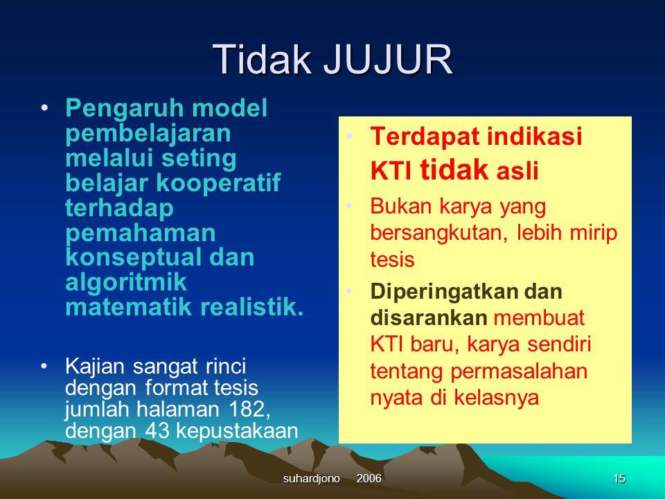 14suhardjono 2006 Contoh KTI yang tidak sesuai dengan tujuan kegiatan pengembangan profesi guru