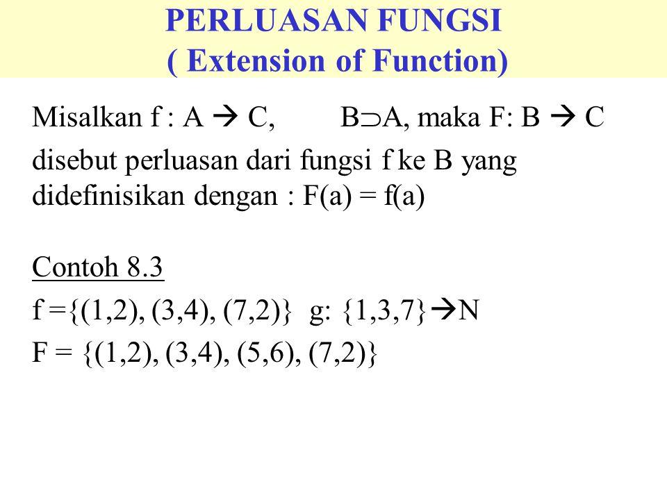 FUNGSI BERHARGA NYATA ( Real-Valued Functions) f : A  R # disebut fungsi berharga nyata p(x) = a o x n + a 1 x n-1 + a 2 x n-2 +…….