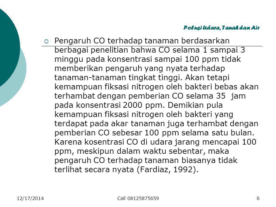 12/17/2014Call 0812587565957 Polusi Udara, Tanah dan Air