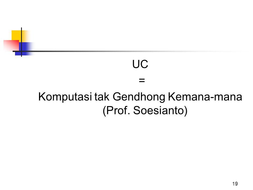 19 UC = Komputasi tak Gendhong Kemana-mana (Prof. Soesianto)