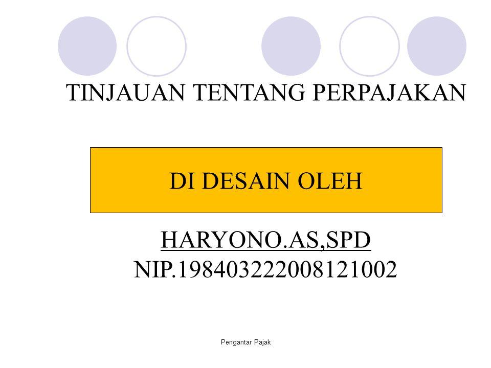 Pengantar Pajak12 Official Assessment System  Sistem pemungutan oleh pemerintah Self Assessment System  Sistem pemungutan oleh wajib pajak sendiri With Holding System  System pemungutan oleh pihak ketiga Sistem Pemungutan Pajak