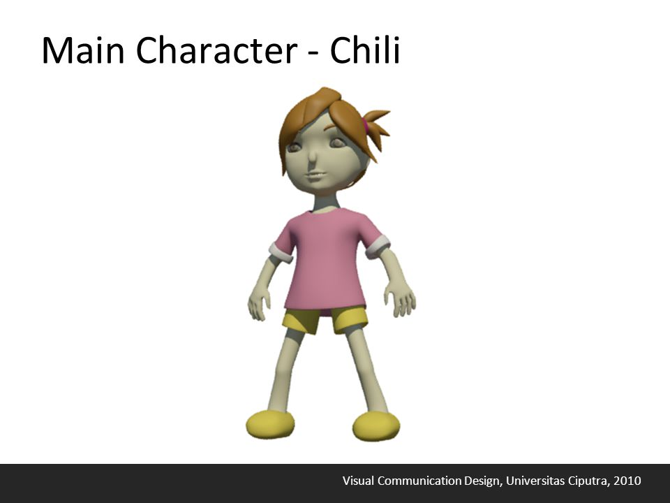 Visual Communication Design, Universitas Ciputra, 2010 Main Character - Chili