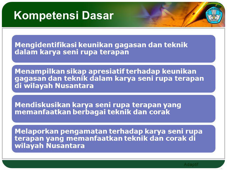 Adaptif Standar Kompetensi