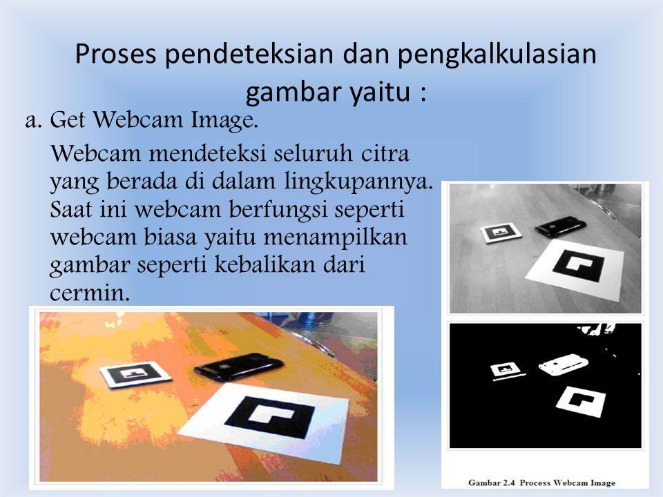 Proses pendeteksian dan pengkalkulasian gambar yaitu : a.
