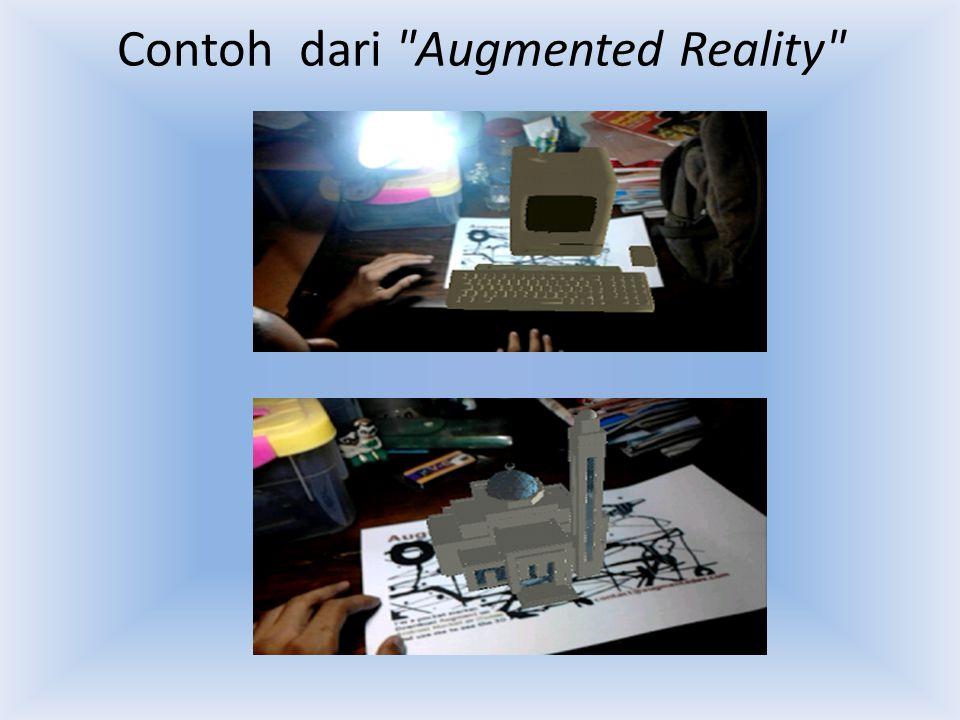 Contoh dari Augmented Reality