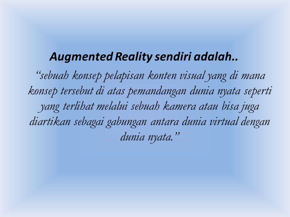 Augmented Reality sendiri adalah..