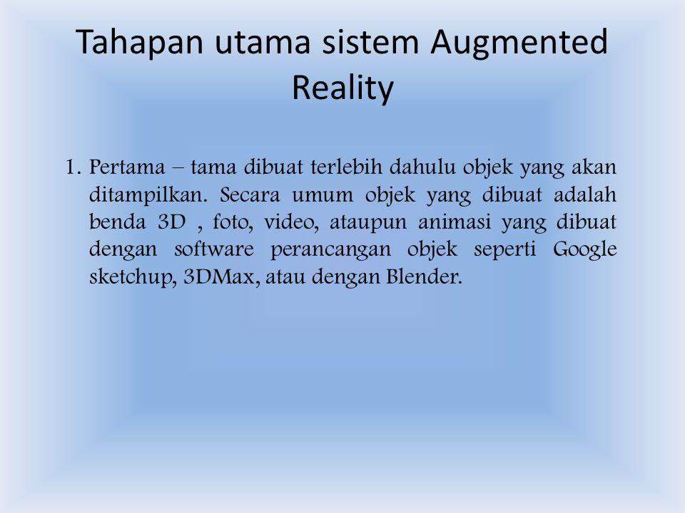 Tahapan utama sistem Augmented Reality 1.
