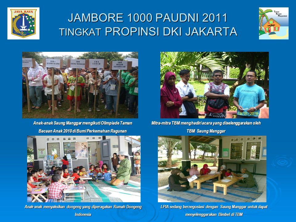 Anak-anak Saung Manggar mengikuti Olimpiade Taman Bacaan Anak 2010 di Bumi Perkemahan Ragunan Mitra-mitra TBM menghadiri acara yang diselenggarakan ol