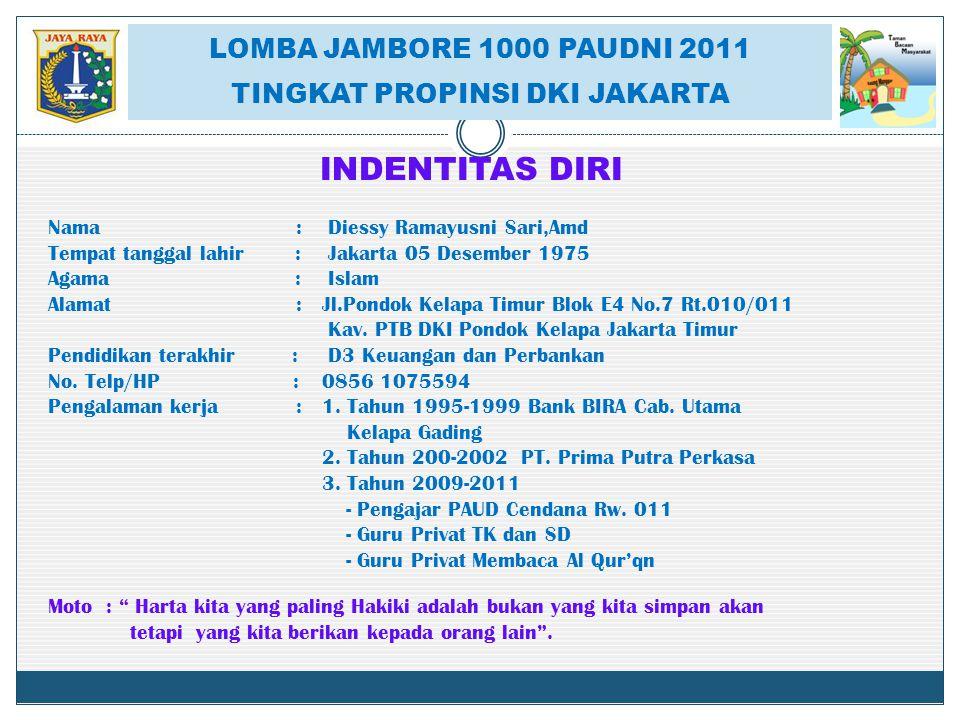 LOMBA JAMBORE 1000 PAUNI 2011 TINGKAT PROPINSI DKI JAKARTA BANGUNAN TBM SAUNG MANGGAR BANGUNAN TBM SAUNG MANGGAR