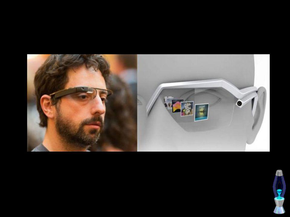 Desain kacamata ini sangat futuristik.