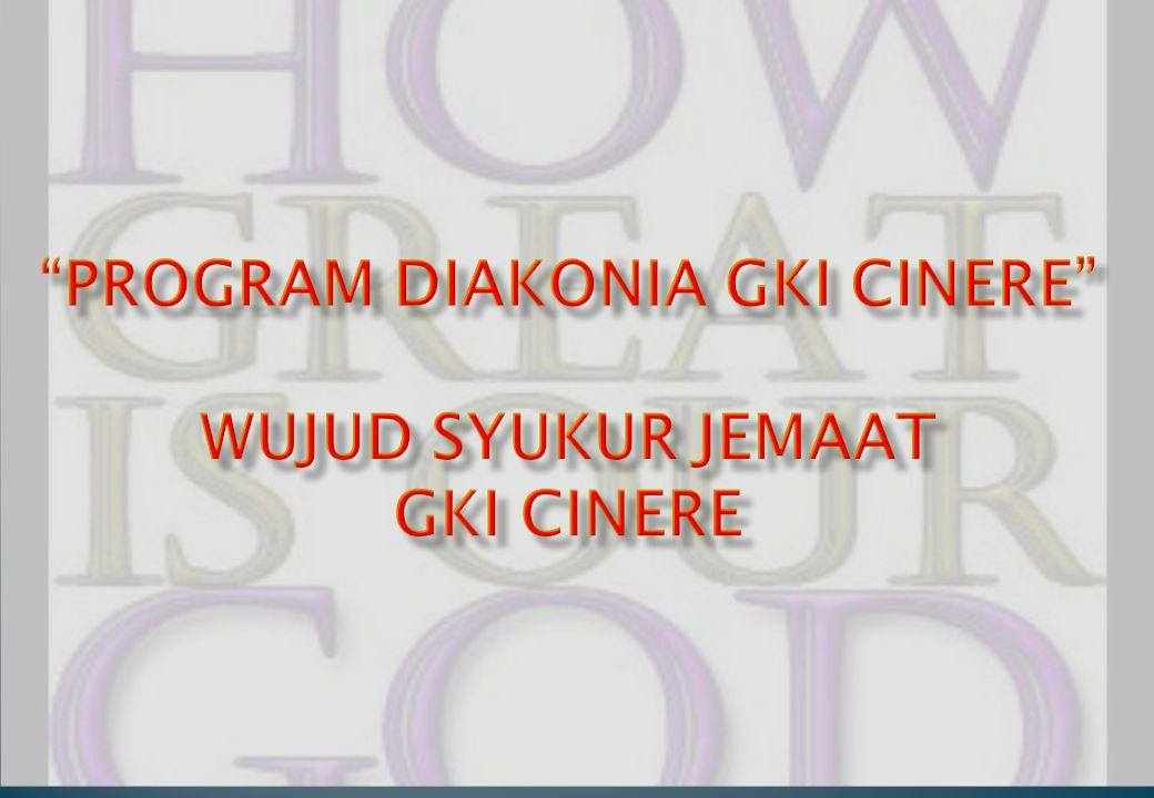Pada awalnya merupakan Program Anak Asuh dimulai dari PROGRAM GEREJA- JEMAAT PEDULI (PROGEJEPE) tahun 1999/2000 sampai tahun 2011/2012 yaitu memberi bantuan belajar bagi anak-anak asuh di bawah naungan Gereja Kristen Sumatera Bagian Selatan (GKSBS) Sawojajar, siswa Yogyakarta, siswa di Padang dan siswa disekitar GKI Cinere.