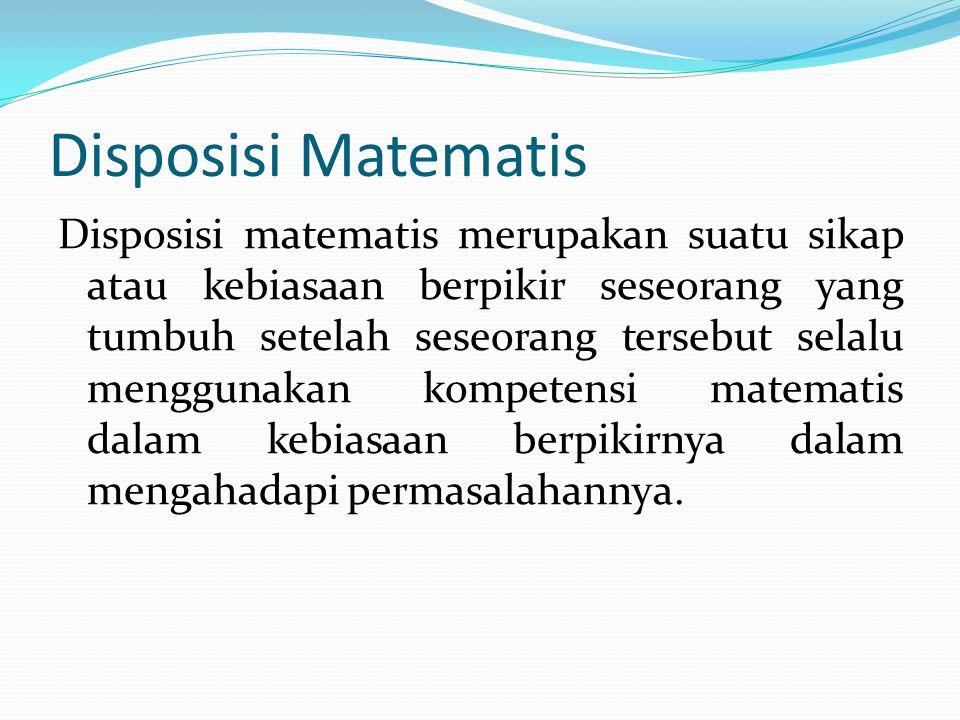 Contoh soal untuk mengukur kompetensi matematis ( koneksi matematis, komunikasi matematis, problem solving ).