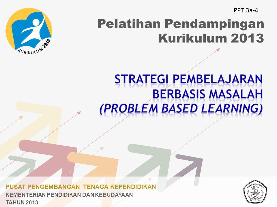 PUSAT PENGEMBANGAN TENAGA KEPENDIDIKAN KEMENTERIAN PENDIDIKAN DAN KEBUDAYAAN TAHUN 2013 Pelatihan Pendampingan Kurikulum 2013 PPT 3a-4