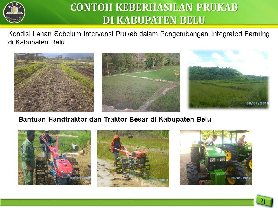 Bantuan Handtraktor dan Traktor Besar di Kabupaten Belu Kondisi Lahan Sebelum Intervensi Prukab dalam Pengembangan Integrated Farming di Kabupaten Bel