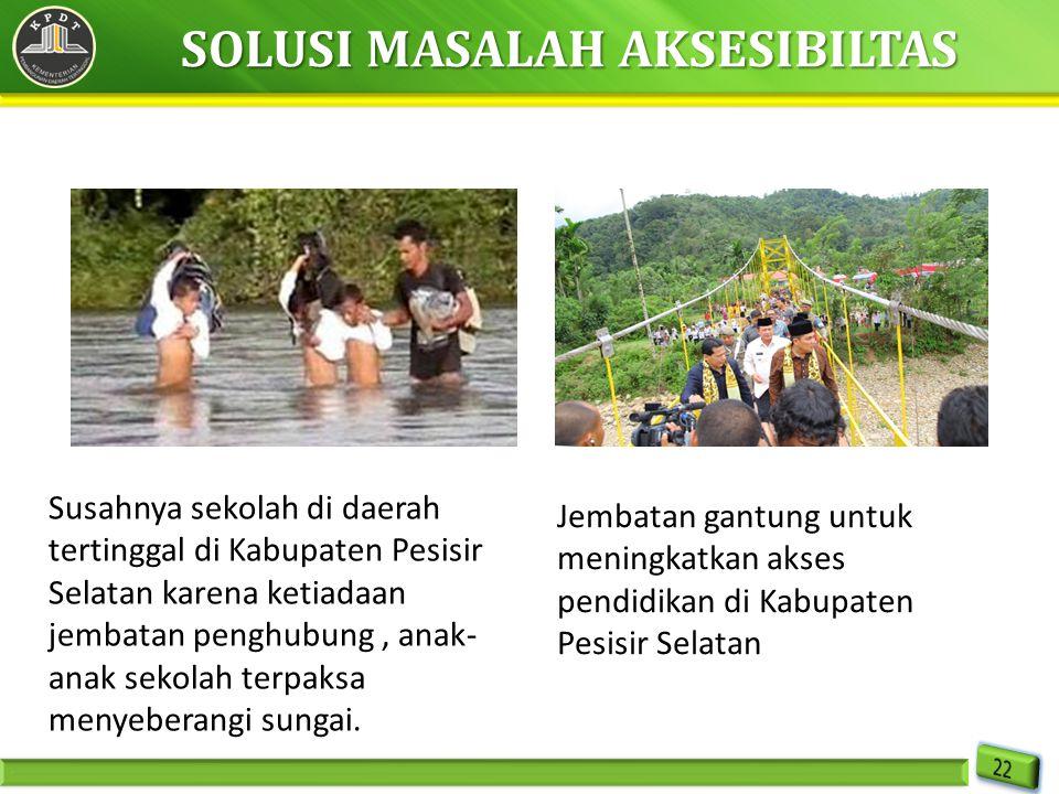 Susahnya sekolah di daerah tertinggal di Kabupaten Pesisir Selatan karena ketiadaan jembatan penghubung, anak- anak sekolah terpaksa menyeberangi sung