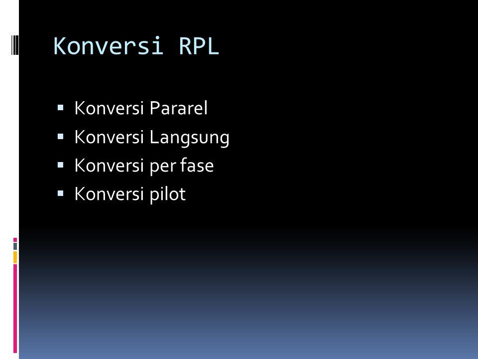 Konversi RPL  Konversi Pararel  Konversi Langsung  Konversi per fase  Konversi pilot