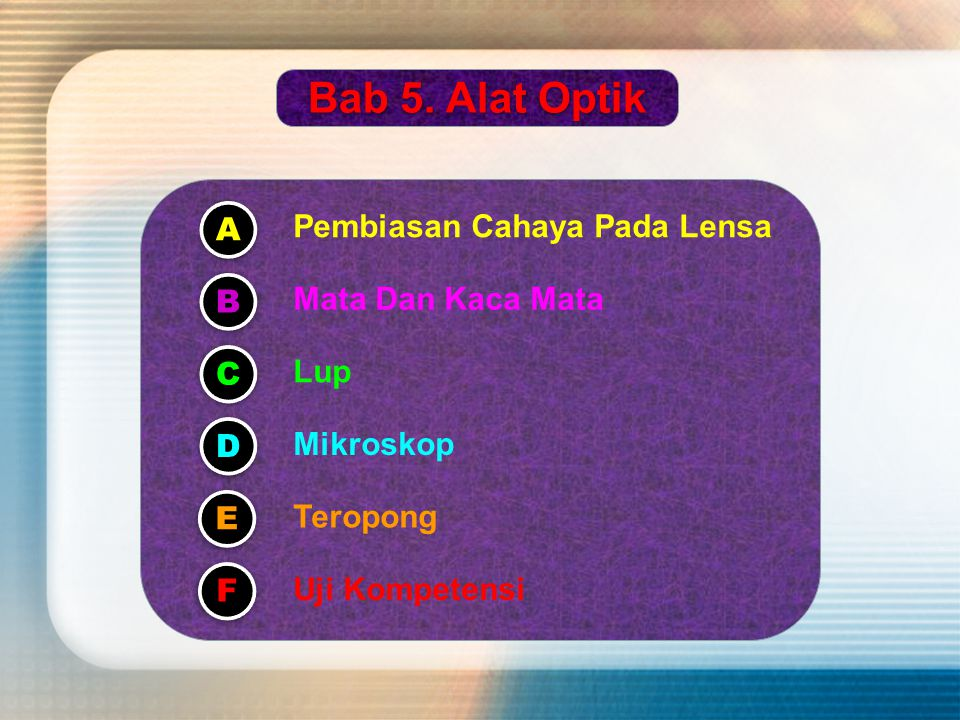 Departemen Pendidikan Nasional Guru Matapelajaran : Drs.Suparno,MSi Pesona Fisika SMA NEGERI 59 JAKARTA BBBB aaaa bbbb 5 5 5 5....