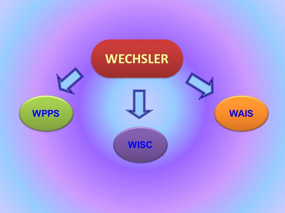 WPPS WPPS WAIS WAIS WISC WISC WECHSLER WECHSLER