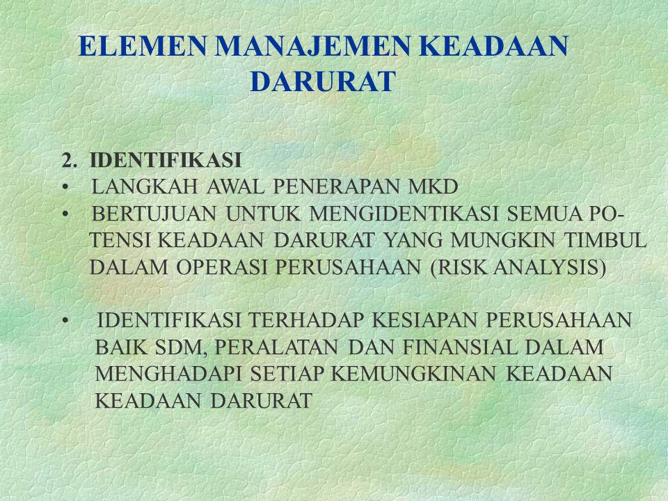 ELEMEN MANAJEMEN KEADAAN DARURAT 2.