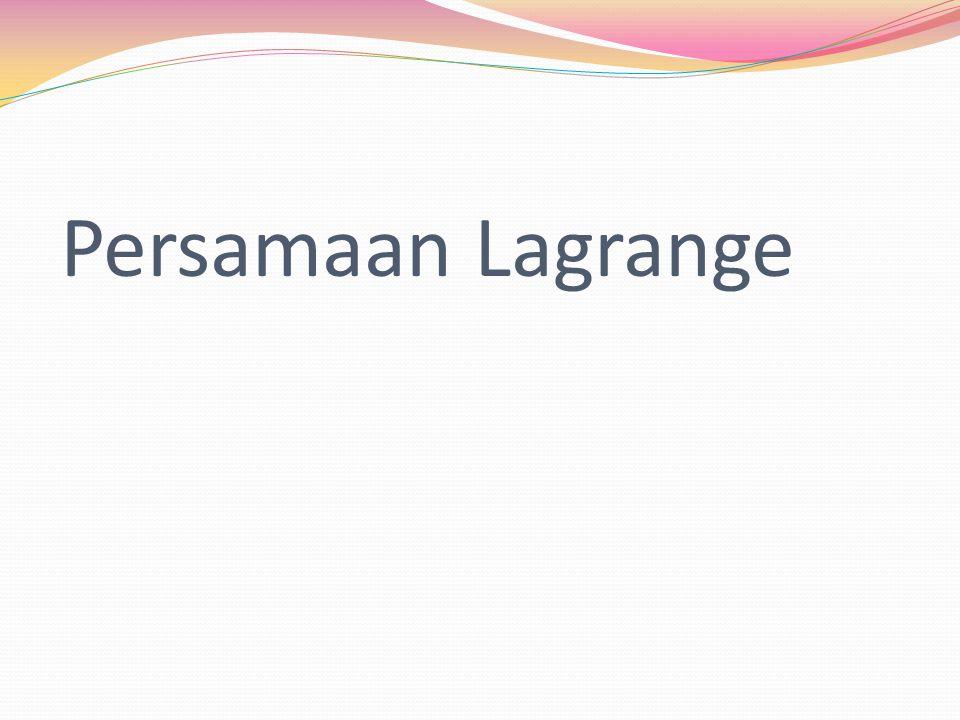 Persamaan Lagrange