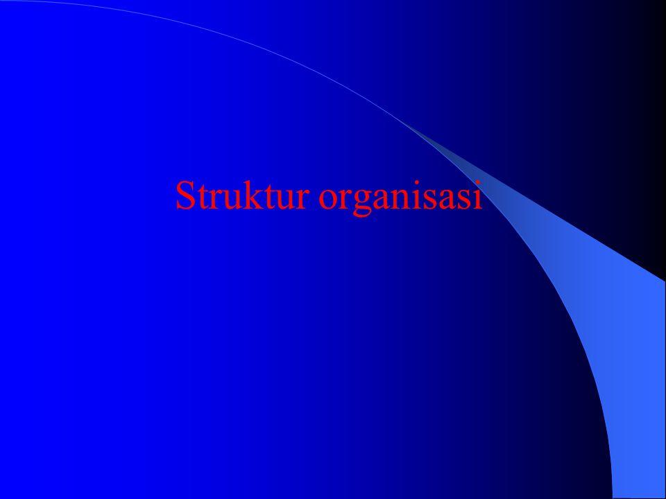 ORGANISASI FUNGSIONAL Kombinasi dari organ punsional dan organ garis dan staf KEBAIKANNYA : * Pembidangan tugas-tugas jelas * Memberikan kemungkinan a