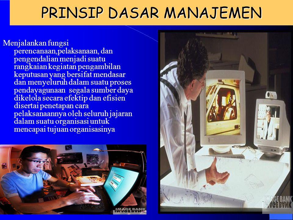 PRINSIP MANAJEMEN 1. Pembagian Kerja (Devision of work) 2. Wewenang dan Tanggung Jawab (Authority and responsibility) 3. Disiplin (Discipline) 4. Kesa