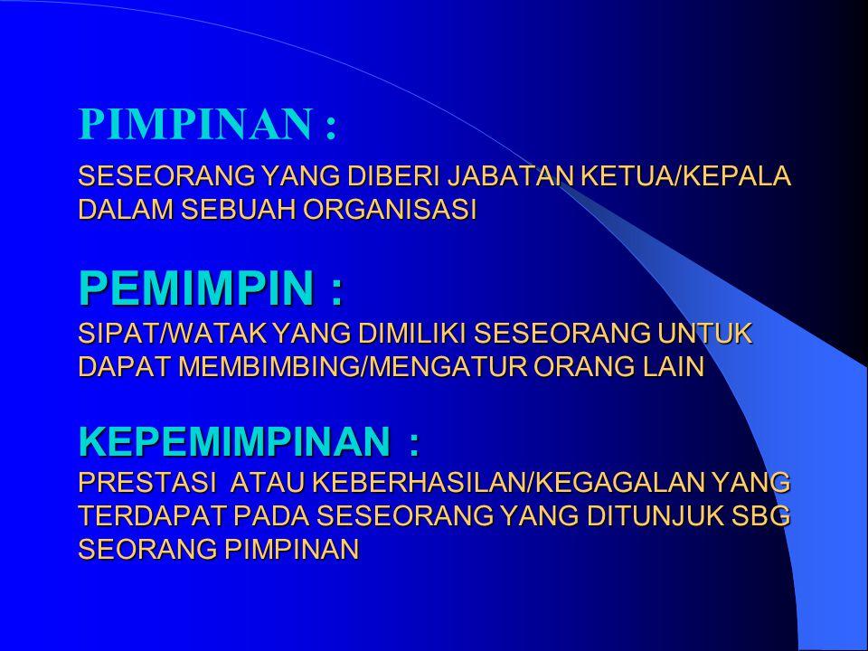 1. Mengenal Diri 2. Penguasaan Diri 3. Percaya Diri 4. Komitmen 5. Fleksibelitas 6. Integritas