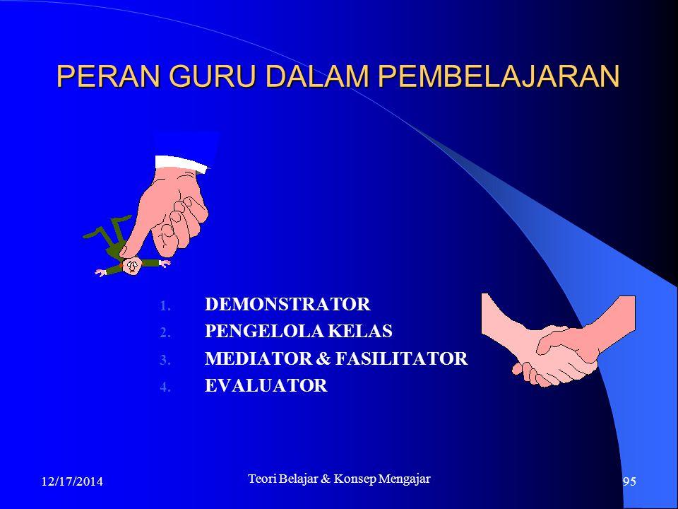 17/12/2014 Strategi Kognitif 94 TUGAS, PERAN DAN KOMPETENSI GURU DALAM PROSES BELAJAR-MENGAJAR Proses Belajar-mengajar merupakan inti dari proses pend