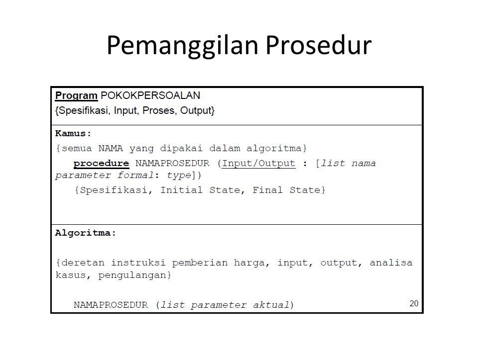 Pemanggilan Prosedur