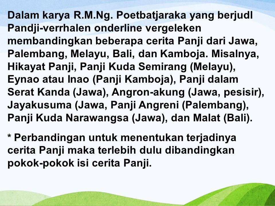 Dalam karya R.M.Ng.