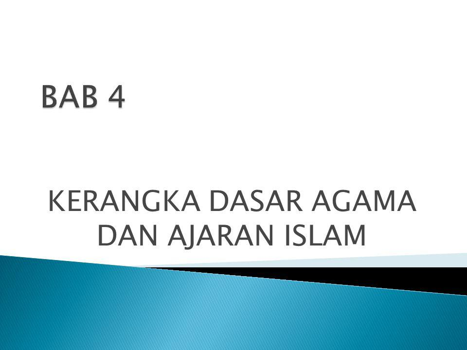 Sumber Agama atau ajaran agama ISLAM, ialah AL- QUR'AN dan AL – HADIS.