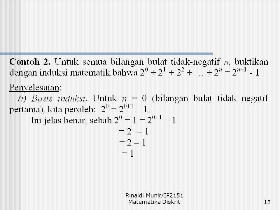 Rinaldi Munir/IF2151 Matematika Diskrit12
