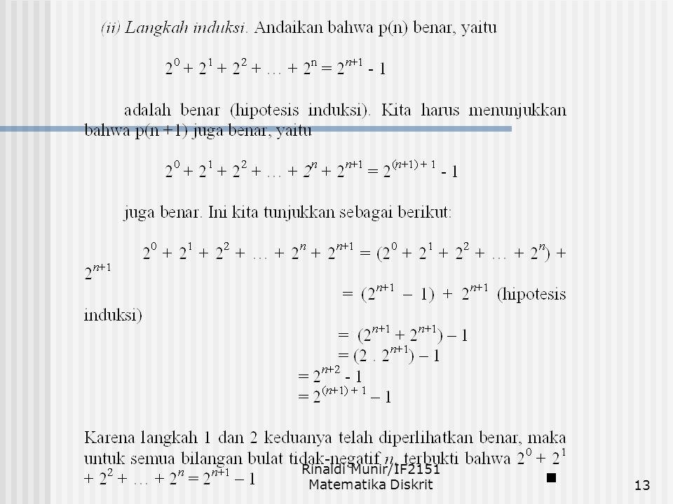 Rinaldi Munir/IF2151 Matematika Diskrit13