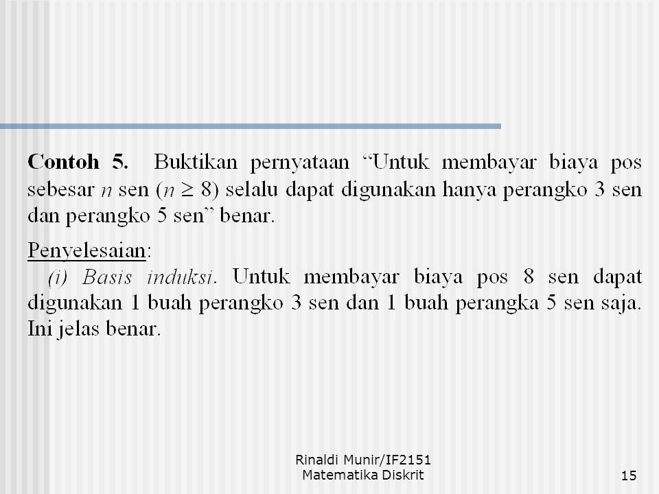 Rinaldi Munir/IF2151 Matematika Diskrit15