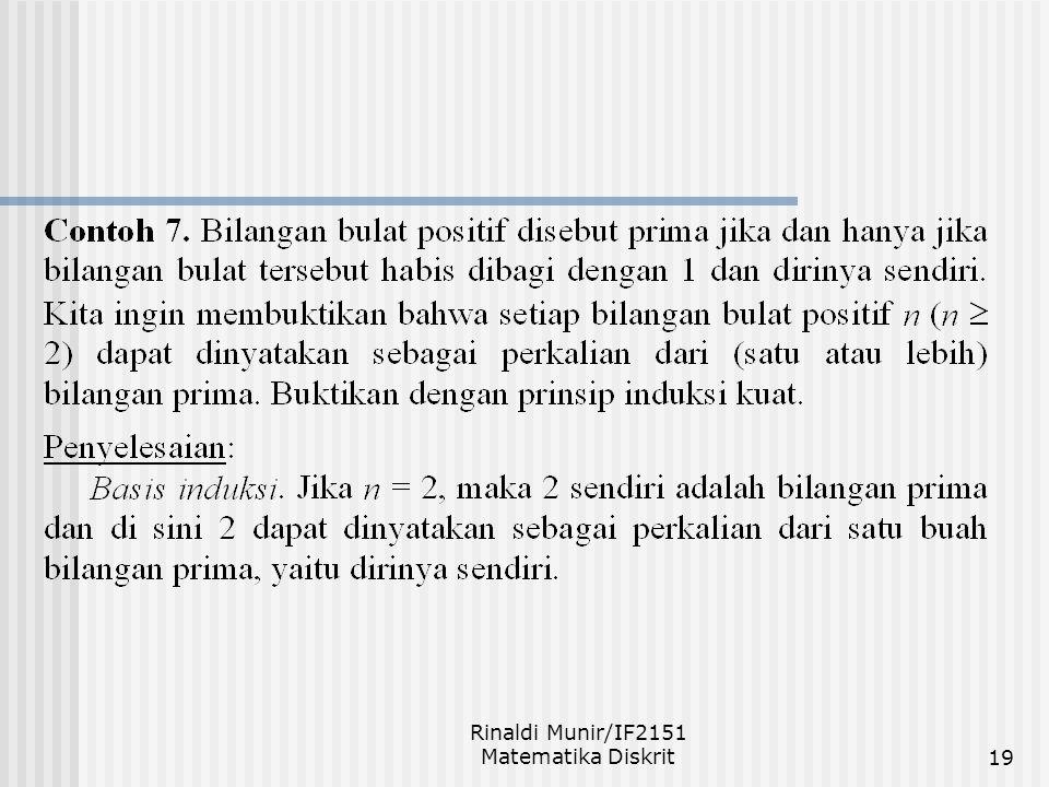 Rinaldi Munir/IF2151 Matematika Diskrit19