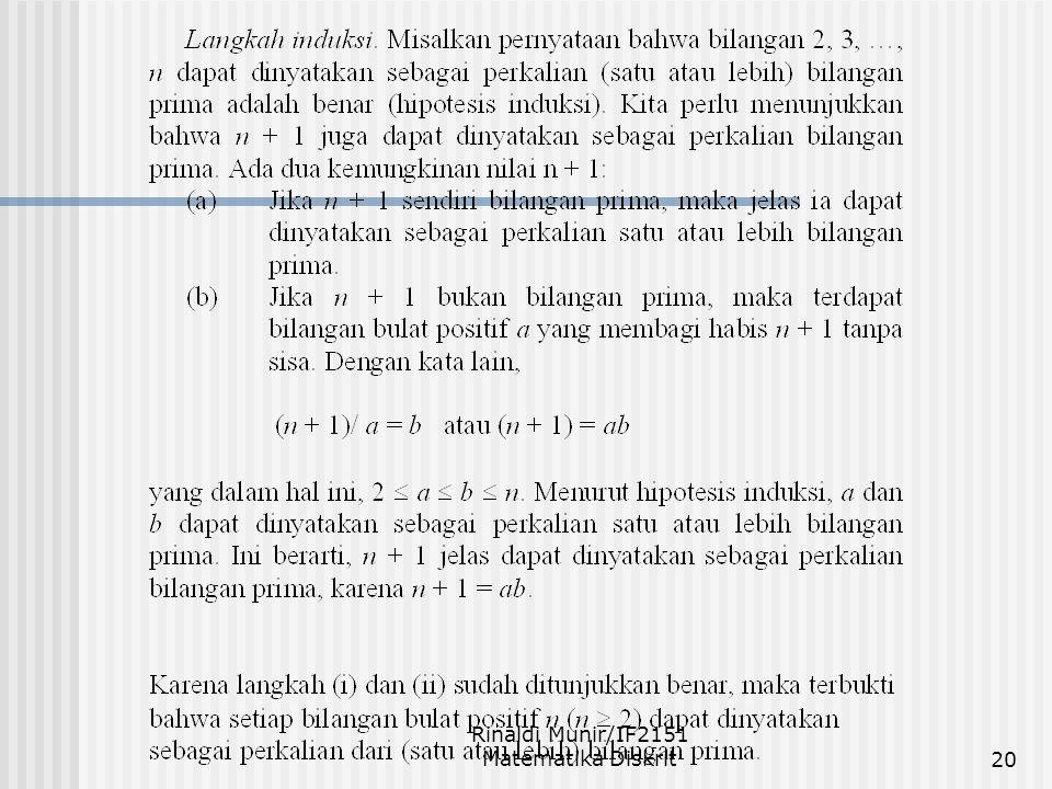 Rinaldi Munir/IF2151 Matematika Diskrit20