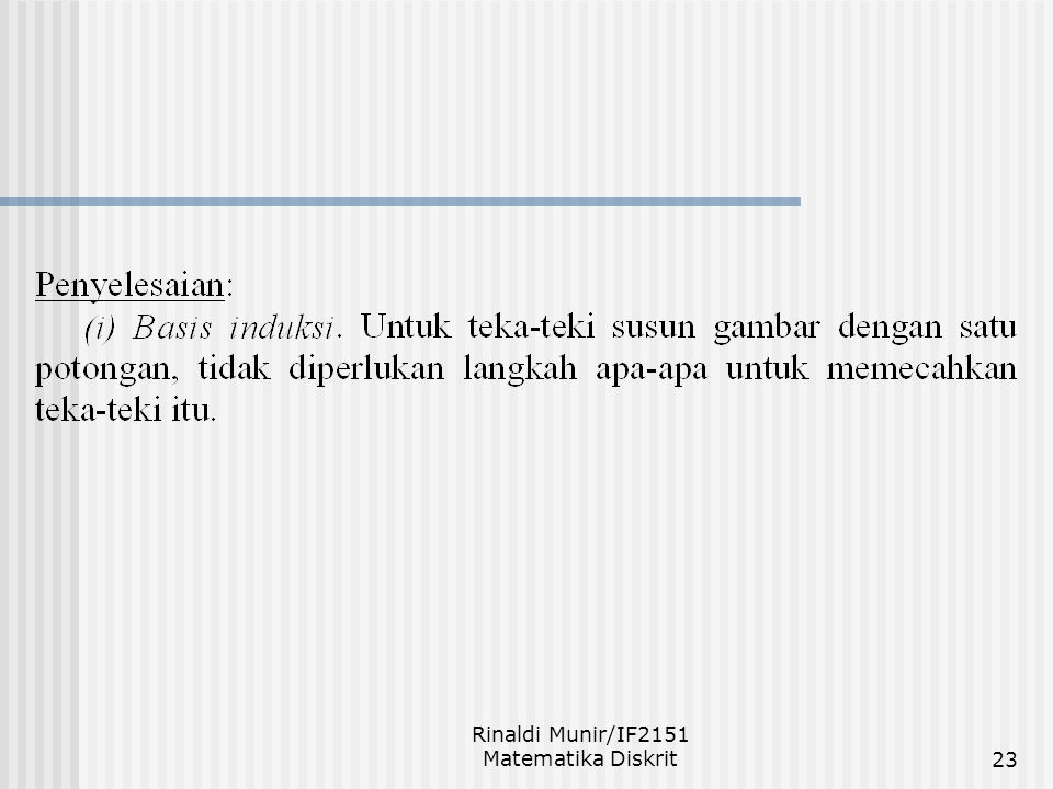 Rinaldi Munir/IF2151 Matematika Diskrit23