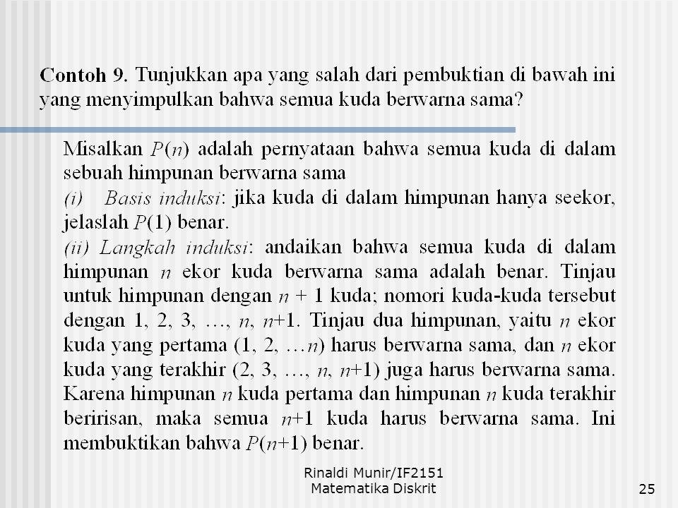 Rinaldi Munir/IF2151 Matematika Diskrit25