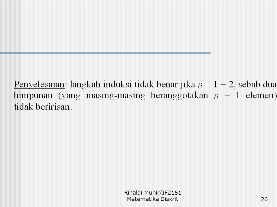 Rinaldi Munir/IF2151 Matematika Diskrit26